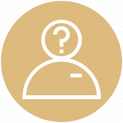 Customer support, male, management, person, question mark, user, user help icon - Download on Iconfinder