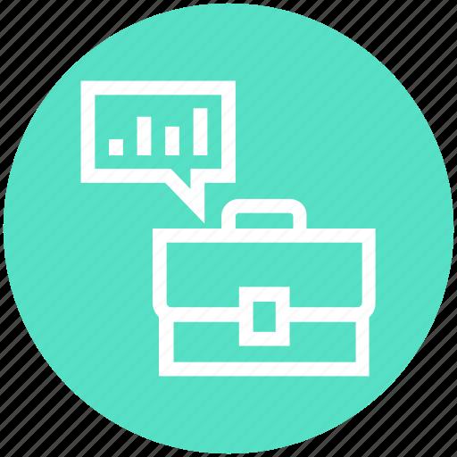 bag, briefcase, business, chat, management, portfolio, suitcase icon