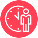 clock, history, male, management, schedule, time, user