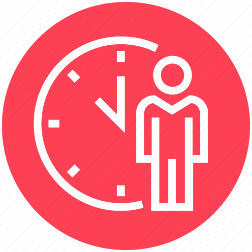 clock, history, male, management, schedule, time, user icon