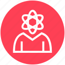 atom, atomic, energy, management, people, user, worker icon