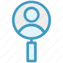 find, id, magnifier, magnifying, people, search, user icon