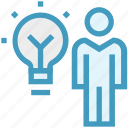 corporate, idea, light, management, office, person, user icon