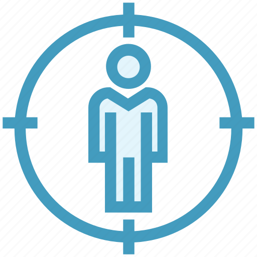 account, audience, corporate, management, target, target user, user icon