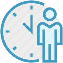 clock, history, male, management, schedule, user icon