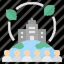 community, environment, organization, corporate, csr icon