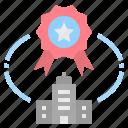 corporate, guarantee, quality, reward, standard icon