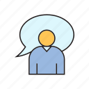 chat, communication, people, speech bubble icon