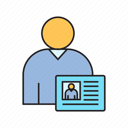 business card, people, profile, user icon
