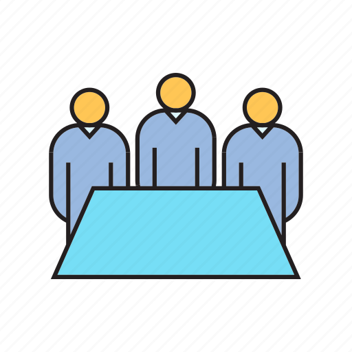 board, collaborate, executive, management, office, organization, people icon