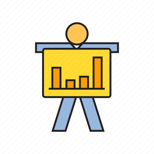 bar chart, chart, graph, people, present icon