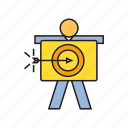 arrow, dart, focus, goal, people, target icon