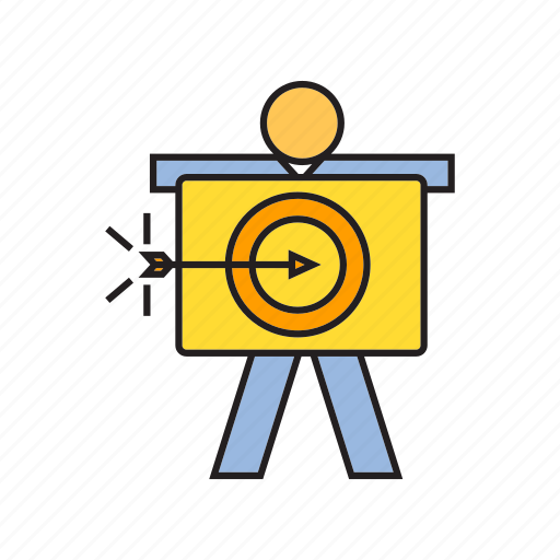 arrow, dart, focus, goal, people, target icon