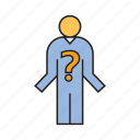 ask, people, problem, solution icon