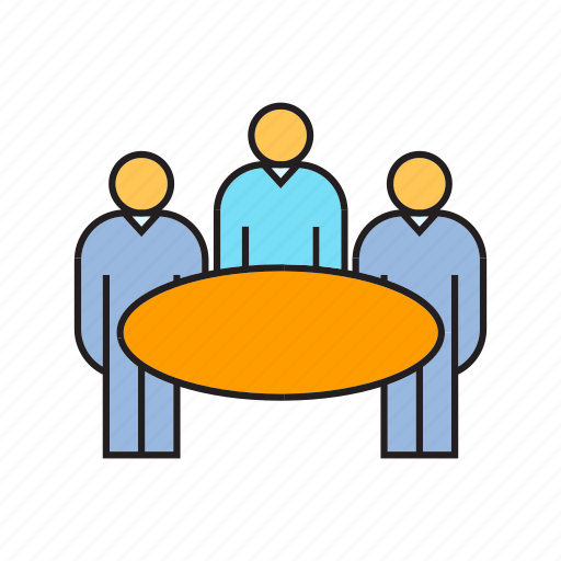 board, business, corporate, management, meeting, table, worker icon