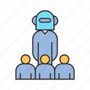 artificial intelligence, boss, bot, humanoid, leader, robot icon