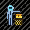 bin, executive, job, jobless, robot, robot worker, waste