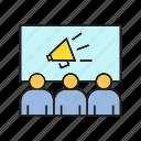 ad, conference, marketing, propaganda, publication