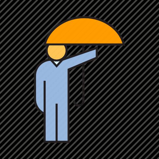 people, protect, risk, umbrella icon