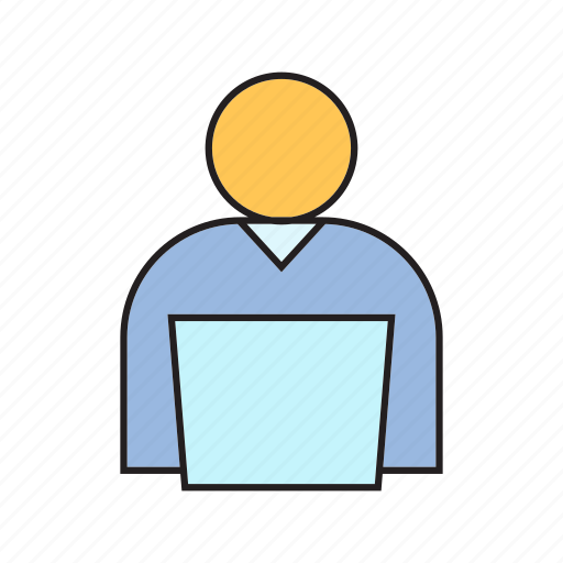 computer, employer, laptop, people, working icon