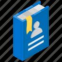 company booklet, employee handbook, guidebook, retail book, rule book icon