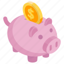 bank asset, penny bank, piggy bank, piggy pastel, piggy savings, piggy wealth, save money icon