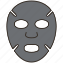 cosmetic, facial, mask, moisture, treatment icon