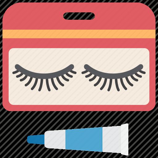 accessory, extension, eyelashes, fake, makeup icon