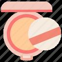 base, face, powder, press, puff icon