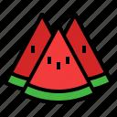watermelon, melon, fruit, summer, food