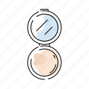 beauty, cosmetic, mirror, powder icon