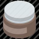 beauty care, beauty product, cosmetic, gel jar, hair gel, hair wax, self grooming icon