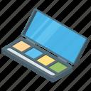 blush on, cosmetic, eye shade kit, eye shadow, make up, palette icon