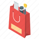 cosmetic purchase, cosmetic shopping, cosmetics, make up, makeup shopping, shopping bag icon