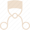 curler, eyelash, eyelash curler icon