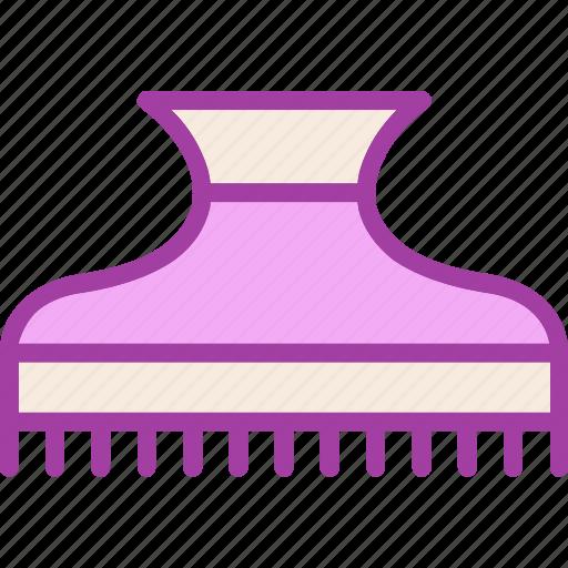 hair, hair clamp, hair clip, hair pin icon