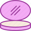 face powder, makeup, powder icon