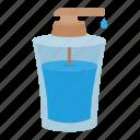 bottle, cosmetics, glass, liquid, soap icon