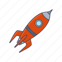 launch, rocket, space, spaceship, startup icon icon