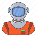 astronomy, cosmonaut, person, science, space, suit icon icon