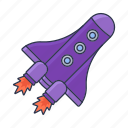 launch, rocket, space, spaceship icon