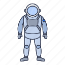 astronaut, cosmonaut, planet, space, suit icon icon