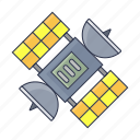 chemistry, research, rocket, satellite, space icon icon