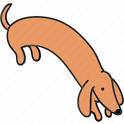 animal, canine, dachshund, dig, dog, hunt, pet icon