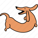 animal, back, bark, canine, dachshund, dog, pet icon