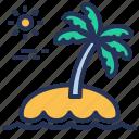 cyprus, palm, resort, vacation icon
