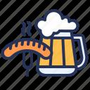 bar, beer, germany, sausage