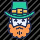 ireland, leprechaun, man, patrick icon