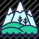 hills, landscape, montenegro, mountains icon