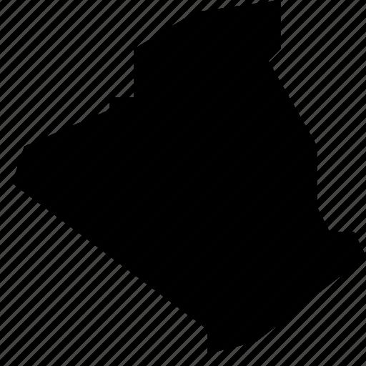 algeria, map icon